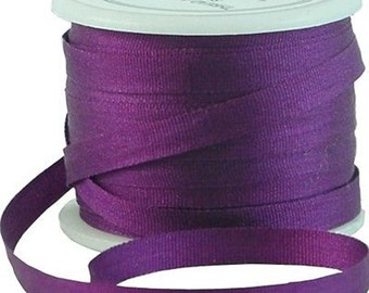 11 Yds (10 M) Embroidery Silk Ribbon 100% Silk 4mm - Purple Passion-By Threadart