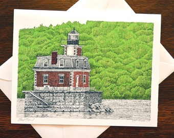 Hudson-Athens Lighthouse Note Cards