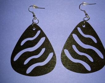Sassy Waves Guitar pick earrings
