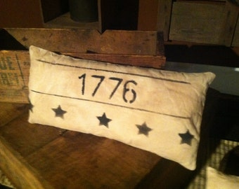 Country Primitive 1776 Pillow Tuck