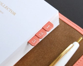 Leather Index Sticker (Gold gild) - Index decoration scrapbook diary notebook sticker
