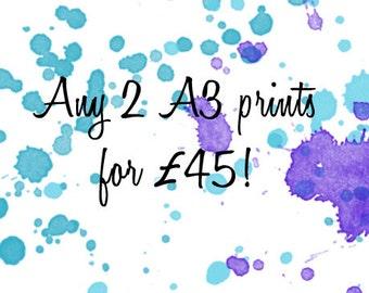 Any 2 A3 prints !