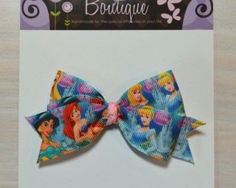 Boutique Style Hair Bow - Disney Princesses