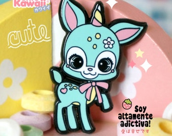 Enamel pin unicorn deer chic kawaii magic pastel kawaii cute pins