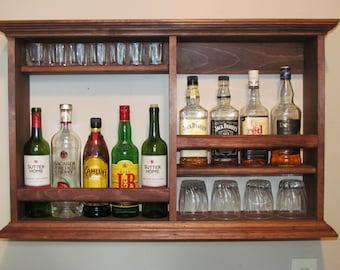mini bar black stain wine rack liquor cabinet minimalist. Black Bedroom Furniture Sets. Home Design Ideas