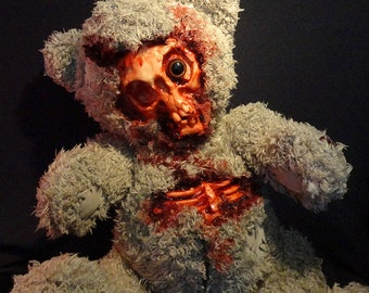 One of A kind unique Zombie Teddy Bear