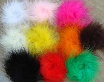 3''-3.5'' Marabou Feather Puff , feather flower for Hair accessory hair clip supplies flower You choose color