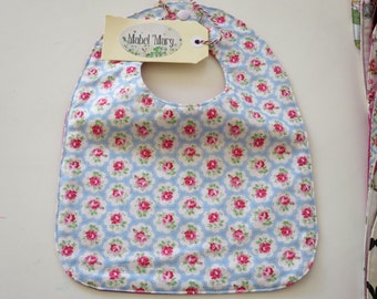 Provence Rose Baby Bib with Waterproof Backing