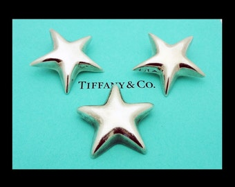 Tiffany and Co  Mexico Star Clip on earrings and Brooch set in Sterling Silver
