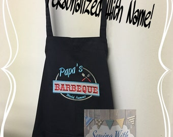 Personalized  Apron, Barbeque, BBQ, Apron, Cooking apron, Chef's apron, Personalized