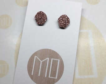 Pebble Studs in Bronze Surgical Stainless Steel