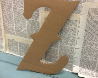 Complete Alphabet in Recycled Cardboard Letters, with print reverse