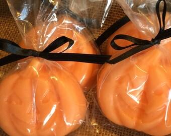 Pumpkin Favors, Pumpkin Soap Favors, 10 PACK, vegan, Halloween Favors