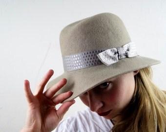 Vintage Soviet Era Rigas Filcs, Latvia Ladies Felt Hat/Fedora Hat