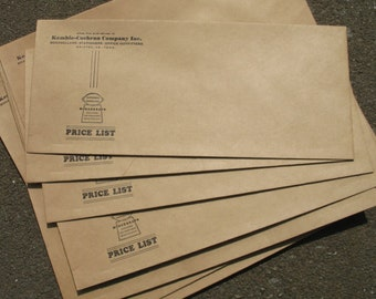 """18 OLD Vintage Envelopes """"Authorized Distributor for Mimeograph"""" Bristol VA TN 40's 50's New Old Stock Oversized Brown Kraft Paper"""