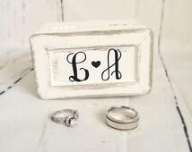 Rustic Wedding Decor/ Wedding Ring Box / Ring Bearer/ Ring Box/ Flower Girl