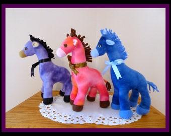 Giraffe Stuffed Animal/Purple,Pink or Blue Fleece Giraffe/Jungle Animals/Plush Toy/African Safari Animal/Gift for Kids/Plushie