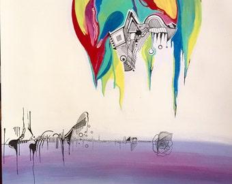 "Original abstract artwork  ""Unproductive"""
