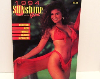 1994 Pinup Sunshine Girl Calendar Bikini Swimsuit 13 Models Canada