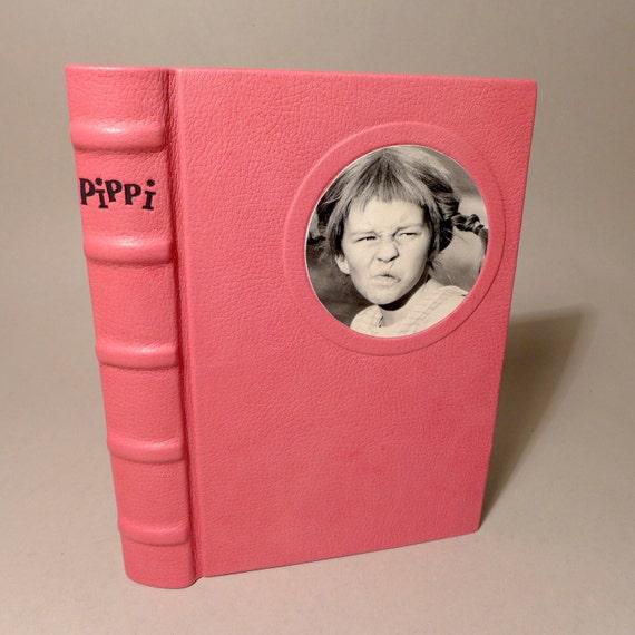 Pippi Langkous Buch 1972 Astrid Lindgren unieke lederen bindende mededeling nr. 760 kunst boek bindende