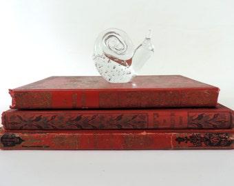 French Vintage Snail Figurine/Vintage Snail Figurine/Vintage Snail Paperweight/Vintage Glass Snail/