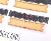 Film Night Stickers; Filofaxing; Erin Condren; Cute Stickers; Kawaii Stickers; Planner Sticker; Movie Stickers; Movie Night Stickers