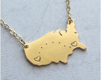 City Map Jewelry Etsy - Us map distance