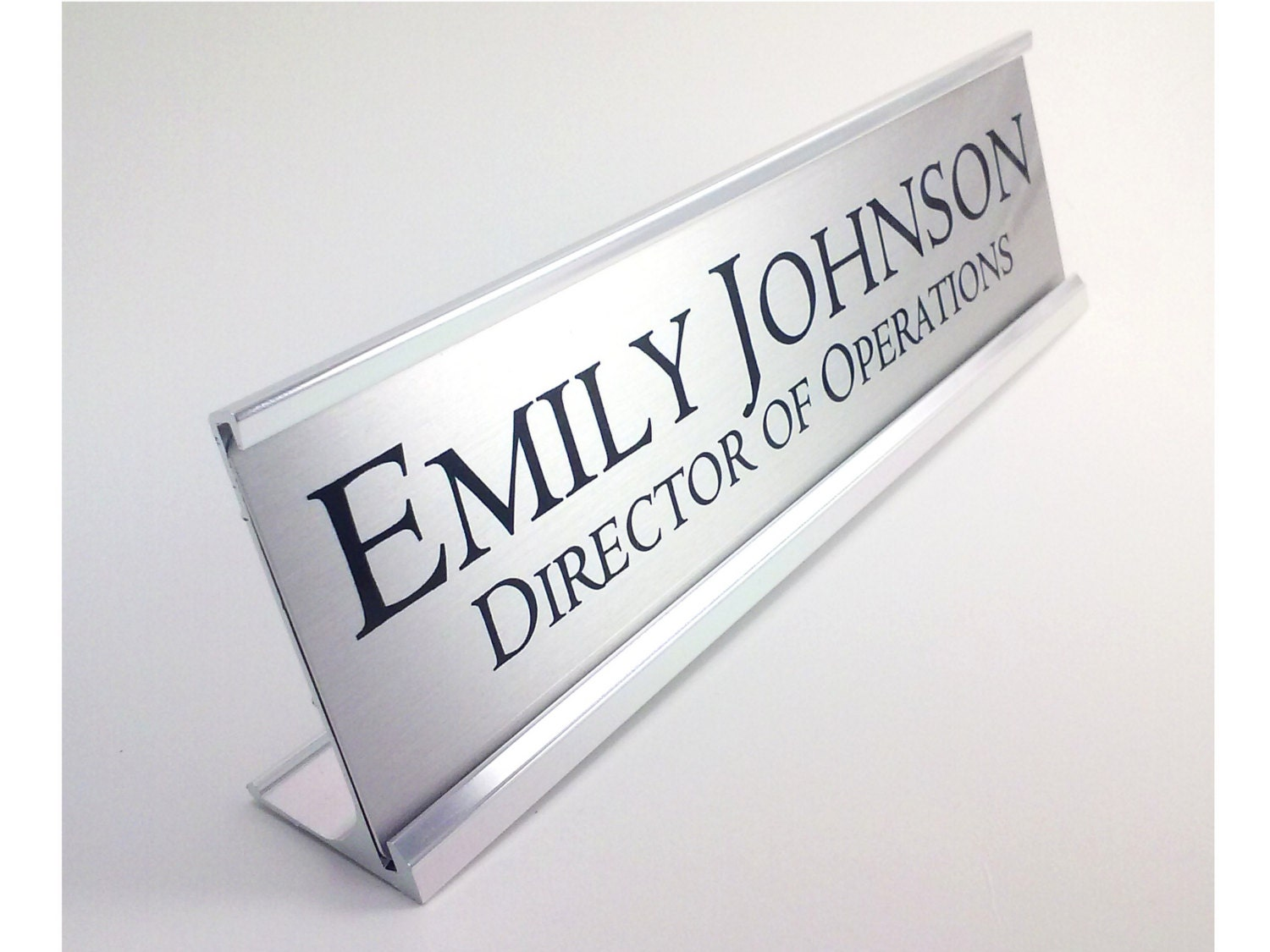 Name Plate: Personalized Desk Name Plate Nameplate Silver With Silver