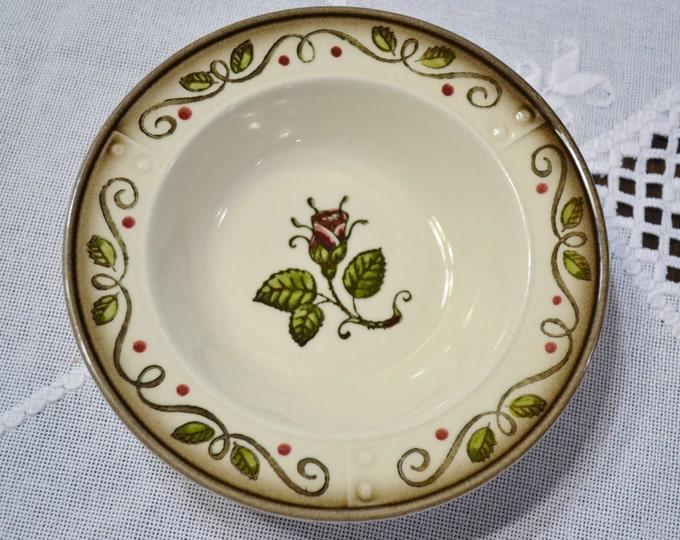 Vintage Metlox Poppytrail Provincial Rose Berry Fruit Bowl California Pottery  Panchosporch