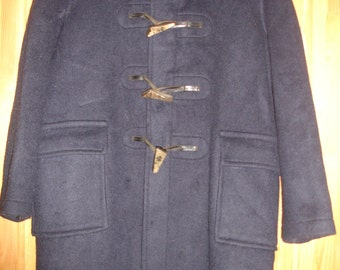 Dark blue womens coat winter coat girls coat wool coat made in England Glowerall
