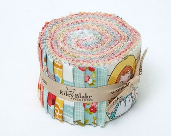 "Farm Girl Rolie Polie by October Afternoon for Riley Blake, 21 - 2 1/2"" x 42"" strips"