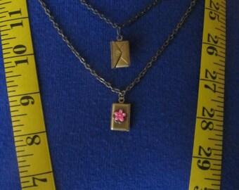 Petite Envelope Locket Necklace