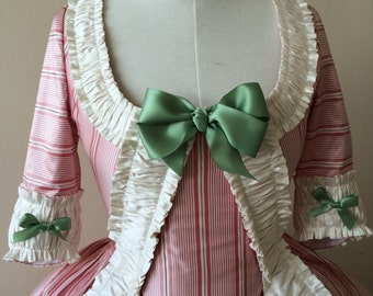 Pink Stripe 18th Century Rococo Polonaise Size 8