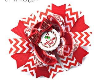 Candy Cane Hair Bow, Christmas Hair Bow, Christmas Bow, Candy Cane Bow, Candy Cane Hair Bow, Baby Christmas, Candy Cane Baby,First Christmas