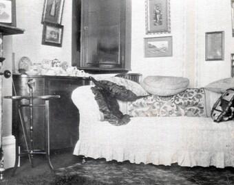 Vintage Photo..Cozy Living Room 1930's Original Photo, Old Photo Snapshot, Vernacular Photography, Vintage Interiors, American Life Photo