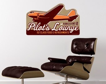 Pilots Lounge Airplane Wall Decal - #52298