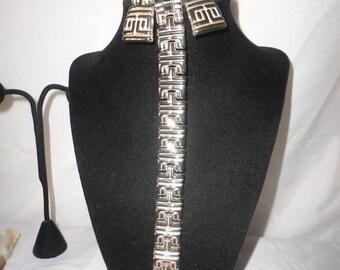 """Vintage Silver Plated """"G"""" Greek Letter Bracelet Set.***"""
