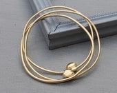 Minimalist Gold Bangle, Thin Gold Bangles, 18k gold plated, Set of 3