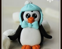 Fondant Penguin Cake/Cupcake Toppers