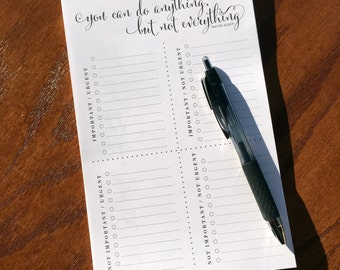 Priority Matrix Notepad , To Do List Note pad, Time management tool