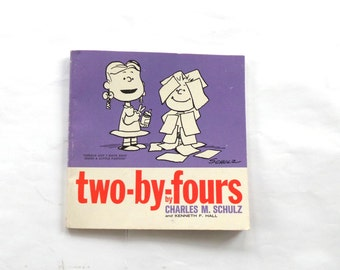 1965 Peanuts Book, Two-by-Fours, Charles Schultz, Peanuts Collectibles, Charlie Brown, Color Comics