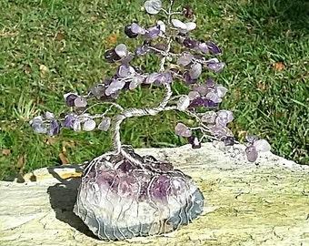 Amythist Gem Tree Beaded Bonsai
