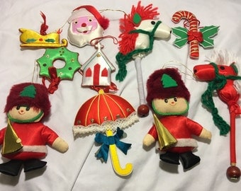 Christmas ornaments, 1980s