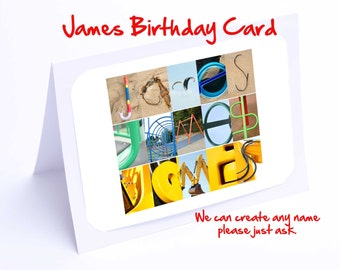 James  Personalised Birthday Card