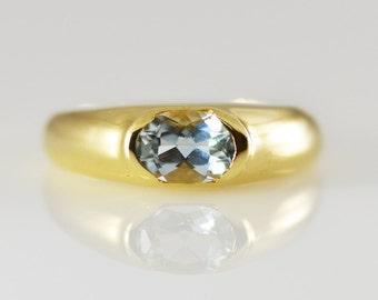 Aquamarine 14K Yellow Gold Ring
