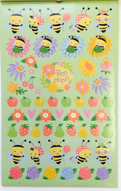 314 Happy Honey Doo Bee Bumblebee Stickers Book Craft Activity