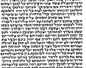 Kosher Klaf for Mezuzah Case, Scroll for Mezuza