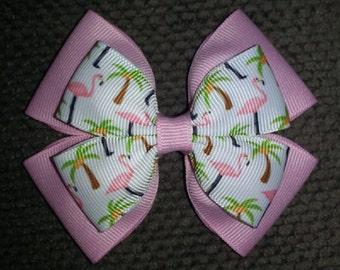 Pink Flamingos Basic Bow
