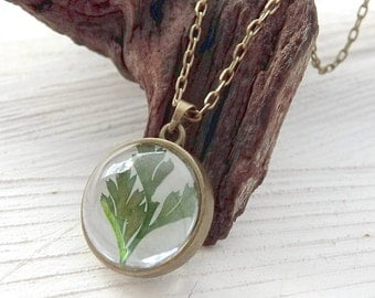 Real Leaf Necklace, Real Flower, Real Dried Plant