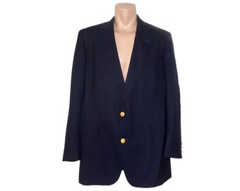 Vintage Brooks Brothers 1818 men blazer 100% pure wool Made in USA gold buttons